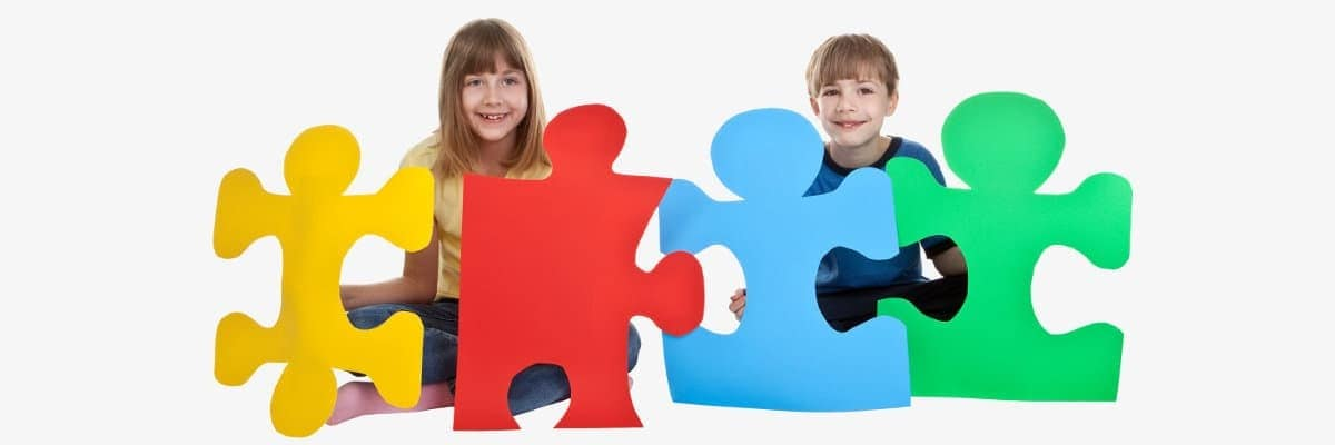 Image of children autism puzzle - stem cell therapy for autism