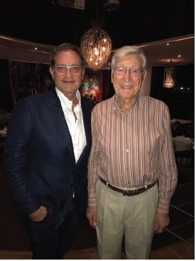 Image of Home Depot Founder Bernie Marcus with Dr. Riordan